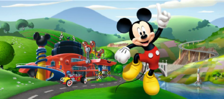 Mickey Mouse Panoramic mural wallpaper 202x90cm